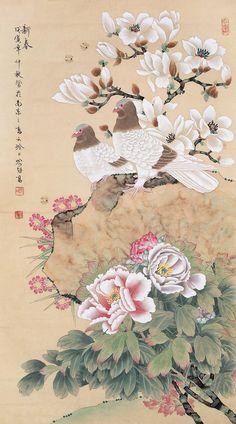 喻继高  Yu Jigao  (1932-) Canvas Painting Designs, Fabric Painting, Painting & Drawing, Chinese Painting Flowers, Japan Painting, Amazing Paintings, Korean Art, China Art, Japanese Art