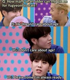 Yugyeom - Seriously!!! As if the torture wasn't bad enough as it was... This is noona-slaying at its finest... This boy deserves a prize...