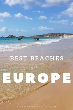 15 best beaches in europe - top destinations for a beach holiday! Europe Destinations, Europe Travel Guide, Holiday Destinations, Italy Travel, Exotic Beaches, Tropical Beaches, Florida Beaches, Best Beaches In Europe, Beach Pink