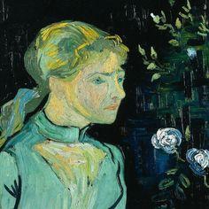 Vincent  Willem van Gogh (Dutch, 30 March 1853 - 20 July 1890) - Portrait of Adeline Ravoux (June 1890) Oil on canvas, 50.2 × 50.5 cm. The Cleveland Museum of Art, Ohio, USA