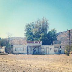 The town of Garlock, on Garlock Road in the Mojave Desert California.