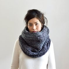 knitting/crochet goals.. Chunky Scarf Double Thick Cowl Scarf Hood Extra Soft by IRISMINT