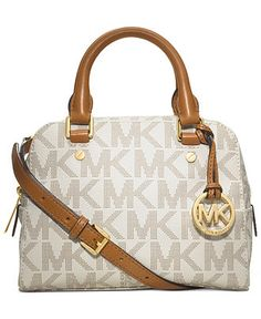 top handle bags: MICHAEL Michael Kors Jet Set Small Travel Satchel in Signature Vanilla Michael Kors Jet Set, Cheap Michael Kors, Handbags Michael Kors, Mk Handbags, Fashion Handbags, Fashion Bags, Women's Fashion, Crossbody Wallet, Leather Crossbody Bag