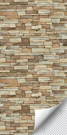 Slate Stone Style Peel and Stick Wallpaper x roll) Stone Wall Design, Wall Panel Design, Country Interior Design, Brick Wallpaper, Diy Home Decor Projects, Do It Yourself Home, Country Decor, Entryway Decor, Slate Stone
