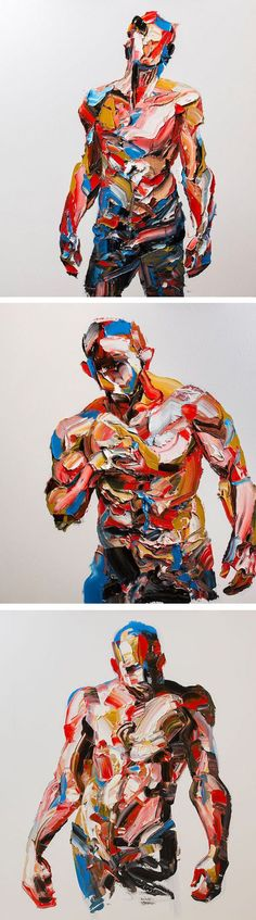 -draw human body with acrylic in heavy strokes -transform strokes into fabric strips -use Skin colour mainly Palette knife painting by Salman Khoshroo // abstract painting // figurative painting Figure Painting, Painting & Drawing, Painting Abstract, Love Painting, Dynamic Painting, Palette Knife Painting, A Level Art, Wow Art, Life Drawing