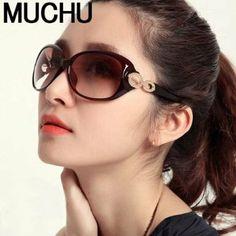 Amazon.co.jp: レディース サングラス ビックフレーム グレデーション 偏光 UVカット MUCHU: 服&ファッション小物