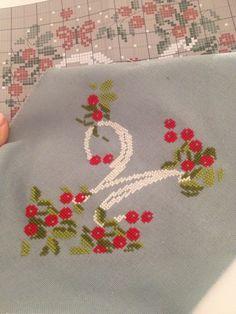 M- cross stitch