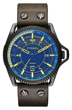 DIESEL® 'Rollcage' Exposed Watch, 46mm