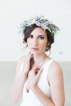 A Lavender bridal flower crown
