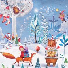 Wat een gezellig winter tafereeltje is dit toch. Ik mag al een hele hoop winterkaarten inpakken - jullie staan volgens mij te popelen dat de feestmaanden eraan komen  Vanwege de drukte nu met de gratis verzendactie kan 't het een dagje langer duren dat je je bestelling ontvangt  Fijne dag allemaal!  #petitelouise #editiongollong #milamarquis #illustration #winter #christmas #greetingcard #snailmail