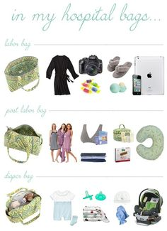 Hospital-Bag --- what to pack for labor and delivery