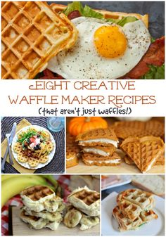 I really need to get a waffle maker! 8 Creative Waffle Recipes That Aren't Just Waffles! Waffle Maker Recipes, Recipe Maker, Food Trucks, Churros, Weekly Dinner Menu, Foods With Iron, Pancakes And Waffles, Pumpkin Waffles, Galette