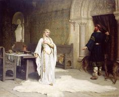 Edmund Blair Leighton (1853-1922) Lady Godiva (1892), oil on canvas. This piece depicts the moment of decision for Lady Godiva ~ her decision to protest.