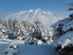 #Montagnes enneigées au #Devoluy.  #Ski #Snow #Alps