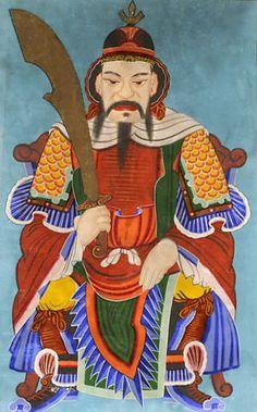 Mushindo depicting 주장 (Jujang) or 신장대감 (Shinjang Daegam), the Military Commander Spirit