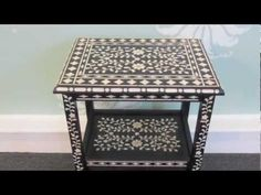How To Stencil Furniture with Benjamin Moore Paint - YouTube