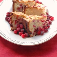   Cranberry Cream Cheese Cake