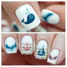 "30 Fish Nail Art Ideas which is the trending manicure design of 2019 - Hike n Dip - Outstanding ""top nail art designs"" detail is available on our website. Take a look and you will - Fish Nail Art, Ocean Nail Art, Fish Nails, Sea Nails, Beach Nail Art, Latest Nail Art, Trendy Nail Art, Cool Nail Art, Cruise Nails"