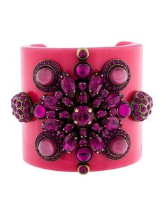 Emilio Pucci Crystal Cuff Bracelet