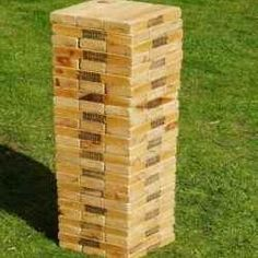 life size jenga on pinterest life size games giant jenga and giant outdoor games. Black Bedroom Furniture Sets. Home Design Ideas