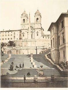 1860/65 Altobelli e Molins . Piazza di Spagna, vista verso la scalinata di…