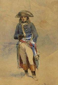 Auguste Denis Marie Raffet (1804-1860) (Attributed) - Bonaparte a la Campagne d'Egypte. Watercolour & Gouache on Paper. Egypt. Circa 1798-1801.