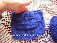 Das Mãos da Teresinha: Como fazer um bolso num casaco de tricô
