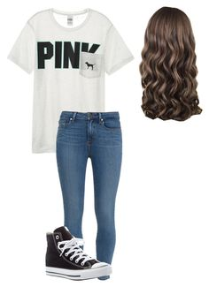 """Untitled #35"" by fia2002 on Polyvore featuring Victoria's Secret, Paige Denim and Converse"