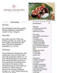 Jeg laver Auberginer med okseruller fra Karolines Køkken