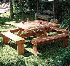Tuin Hardwood Picnic Table - 8 Seat