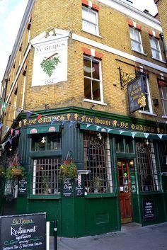Ye Grapes Pub, London by Charles Dawson, via Flickr Enjoying the ale right now......