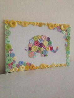 Elefant  aus Knöpfen
