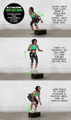 Twist Box Jumps. #ntc #nike