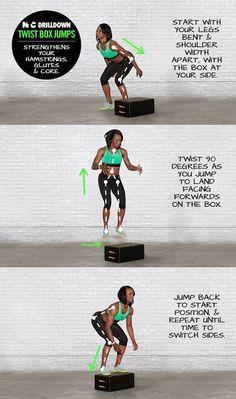 Twist Box Jumps. #ntc #nike