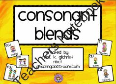 Consonant Blends Smartboard Lesson - SMART Notebook product from WorkaholicNBCT on TeachersNotebook.com