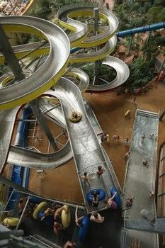 Man gets job testing waterslides around the world like this one