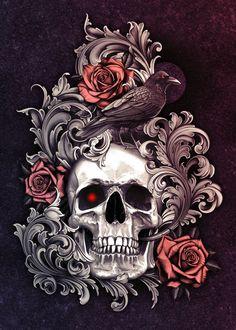 Skull Rose Tattoos, Body Art Tattoos, Sleeve Tattoos, Tribal Tattoos, Hand Tattoos, Tattoo Roses, Chicano Tattoos, Chicano Art, Badass Tattoos