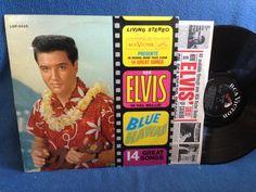 "RARE Vintage Elvis Presley - ""Blue Hawaii Soundtrack"" Vinyl LP Record Album Original 1961 Press Aloha Oe island of Love Classics"