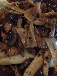 Mushroom, onion and fennel