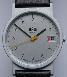 Designspiration — design: the classic Braun watch and similar | Wuff