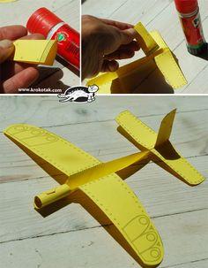 лесен хартиен самолет с шаблон за разпечатване4