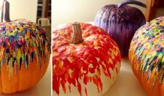 Melted Crayon Pumpkin Decoration - I did this today and it came out great!