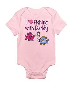 Look what I found on #zulily! Petal Pink 'I Love Fishing With Daddy' Bodysuit - Infant by CafePress #zulilyfinds