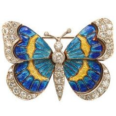 Gold, Enamel, and Diamond Butterfly Pin Source:  http://themagicfarawayttree.tumblr.com/