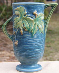 Blue Roseville Bushberry Vase, No. 29-6   ca. 1948 http://www.rubylane.com/item/494613-pott726-bg3395/Blue-Roseville-Bushberry-Vase-No#.T2FoYUWzw5k.twitter via @rubylanecom