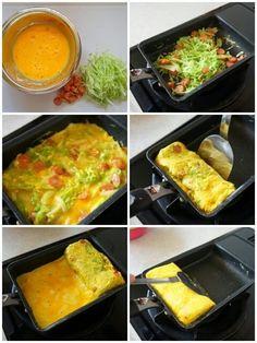 [簡単!おかずに、お弁当に!]とろ〜りチーズのお好み焼き風卵焼き と レシピ本のお知らせです | 珍獣ママ オフィシャルブログ「珍獣ママのごはん。」Powered by Ameba