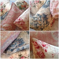English pillows from my shop......Het lijstje van brocante.....