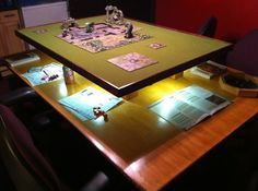 Built a gaming table for #d&d. It came out great I think. What say you @wilw?