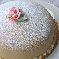princess torte w/ marzipan, vanilla cake and raspberry filling (from hoffman's bakery in kirkland, wa)