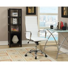 Wildon Home ® High-Back Office Chair with Arms